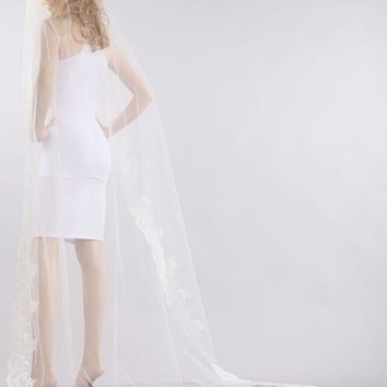 Chapel train wedding Veil  V1060-110 - CLOSEOUT