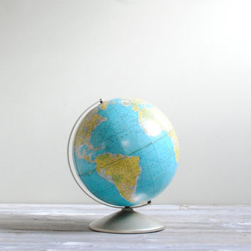 "Vintage Rand McNally 9"" World Globe"