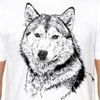 Graphic Husky Dog T-shirt - graphic tee