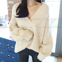 Fashion Loose Big Yards Set head Sweater