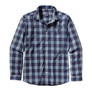 Patagonia Men's Long-Sleeved Gone Again Shirt - 30-UPF | Little Hayburner: Classic Navy