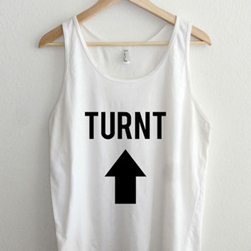 Turnt Up Arrow Typography Unisex Tank Top