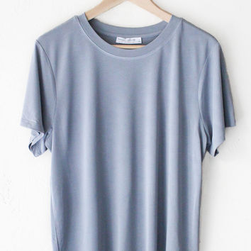 Basic Tee - Dusty Blue
