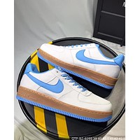 Nike M Air Force 1 2018 summer new Oxford cloth original bottom sneakers F-CQ-YDX Blue