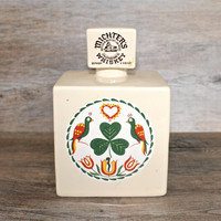 Vintage Michter's Hex Sign Wiskey Decanter with Shamrock