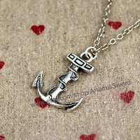 Cool anchor necklace sailor gift with necklace sea lucky necklace style necklace
