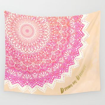 FAIRY MANDALA Wall Tapestry by Nika