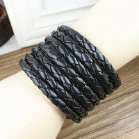 Friendship Punk Adjustable Leather Woven Bracelets mens bracelet Gifts for Men Unisex Bracelet 2565S