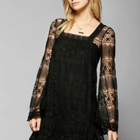 Kimchi Blue Buttercup Lace Bell-Sleeve Dress - Urban Outfitters