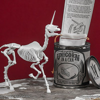 Unicorn in a Can 3D Print Taxidermy Poseable Figure