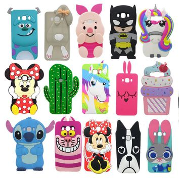 3D Cartoon Unicorn Minnie Capa For Samsung Galaxy J7 2016 J710 J7108 J7109 Soft Silicone Cover For Samsung J7 2016 Phone Cases