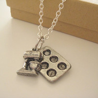 FREE SHIPPING--The Baking Lover's Necklace in Silver