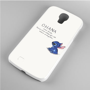Lilo & Stitch Ohana Means Family Art Samsung Galaxy S4 Case