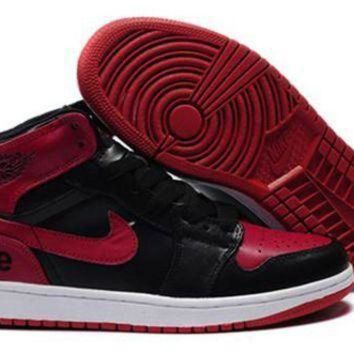 Cheap Air Jordan 1 Retro Red Black White Shoes Online