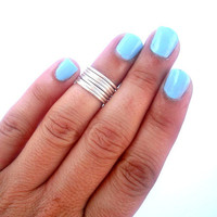 CRISTMAS SALE Set of  7 Silver Above the Knuckle Rings  - Staking Rings - Stackable Rings -  Above Knuckle Ring -  by Tiny Box