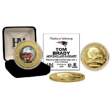 NFL NEW ENGLAND PATRIOTS QB Tom Brady 24KT Commemorative Coin