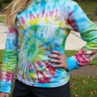 Monogrammed Tie Dye Comfort Color Long Sleeve Pocket T-Shirt Primary Colors BACK IN STOCK - Edit Listing - Etsy