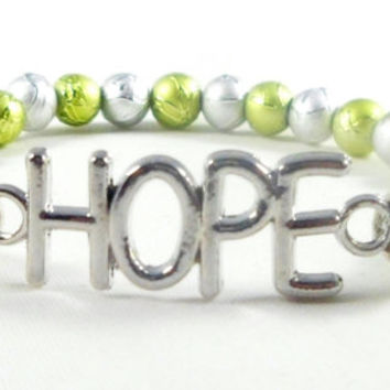 Inspirational bracelet, hope bracelet, christian  jewelry, stretch jewelry, beaded bracelet, inspirational jewelry, hope charm