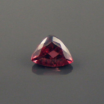 Tourmaline: 1.12ct Red Triangle Shape Gemstone, Natural Hand Made Faceted Gem, Loose Precious Mineral, OOAK Cut Crystal Jewelry Supply 20282