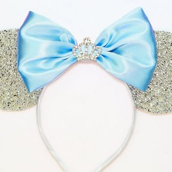 Cinderella Sparkle Ears with Rhinestone Crown