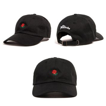 Unisex The Hundreds Rose Strap Cap Black Baseball Cap Hat