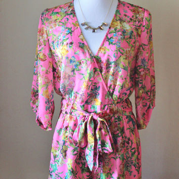 Floral print romper, by Gianni Bini. New without tags