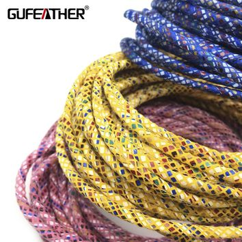 GUFEATHER P107/3MM Leather/jewelry accessories/accessories parts/jewelry findings/diy/hand made/ leather cord 500CM/bag