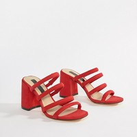 Miss Selfridge tube strappy sandal at asos.com