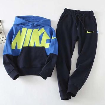 Nike Girls Boys Children Baby Toddler Kids Child Fashion Casual Top Sweater Pullover Hoodie Pants Trousers Two Piece Set