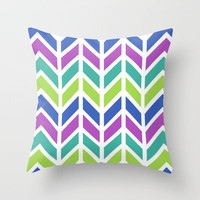 SPRING CHEVRON Throw Pillow by nataliesales