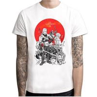 the witcher 3 t-shirt men 2017 New Arrivals Men T shirt Print spring Summer Tops Tees white funny Tshirts