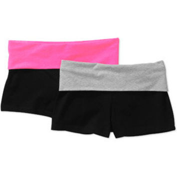Walmart: No Boundaries Juniors Yoga Shorts 2-Pack