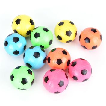 10Pcs New Bouncing Football Soccer Ball Rubber Elastic Jumping Kids Outdoor Balls Toys Gifts Random color