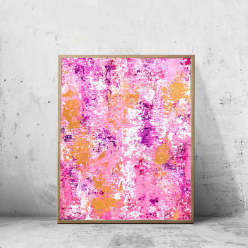 Pink/Gold Abstract Art Print, Pink Abstract Wall Art, Pink Abstract Art, Abstract Home Decor, Abstract Print, Pink Art Print