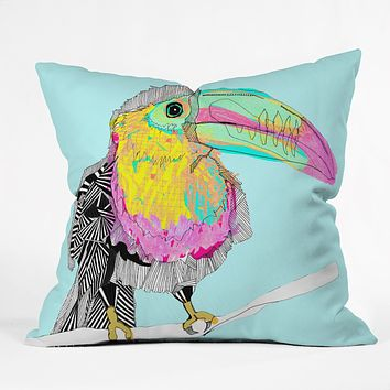 Casey Rogers Toucan Throw Pillow