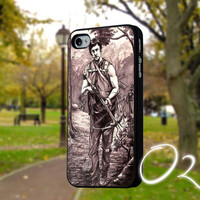 Walking Dead Daryl Dixon sketch-Case,IPhone4/4s,IPhone5/5s/5c,Accessories,Samsung galaxy s3 i9300,samsung galaxy s4 i9500,Cover-2410P7