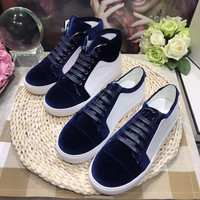 Chanel Fashion Suede and Leather Sneaker