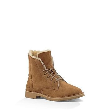 Sale Ugg 1012359 Maroon Classic Street Quincy Boots Snow Boots