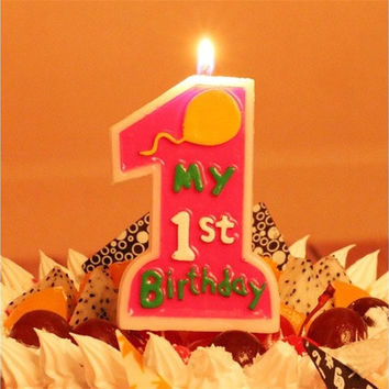 Party Decorations Favors Home Kitchen Cake Toppers My 1st Birthday Candle Baby Kids Birthday Supplies Tealight Candles