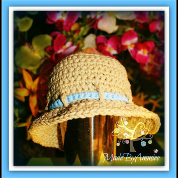 Crochet Baby Sunhat, Crochet Infant Bucket Hat, Kids Beach Hat, Camping Hat, Explorer Hat, Crochet Baby Summer Hat, Brimmed Hat, Panama Hat