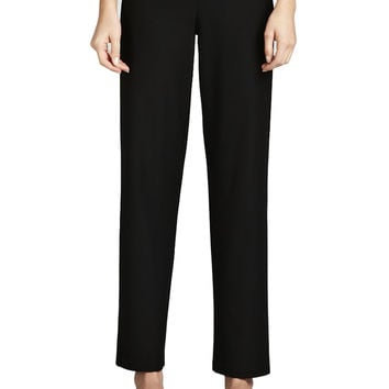 Washable-Crepe Straight-Leg Pants, Women's - Eileen Fisher - Black (3X)