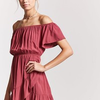 Off-the-Shoulder Ruffle Dress - Women - Dresses - 2000175009 - Forever 21 Canada English