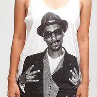 Snoop Dogg T Shirt Party Rapper Hip Hop R & B Women White T-Shirt Vest Tank Top Singlet Sleeveless Size S M