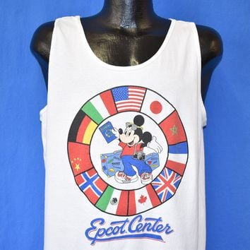 80s Epcot Center Mickey Mouse Disney Tank t-shirt Extra Large
