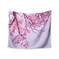 "Iris Lehnhardt ""Magnolia Trees"" Pink Branches Wall Tapestry"