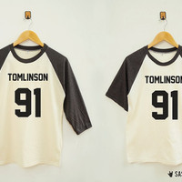 Tomlinson 91 Shirt Funny Shirt Tumblr Hipster Top Rock Top Baseball TShirt Raglan Shirt Baseball Shirt Unisex Shirt Women Shirt Men Shirt