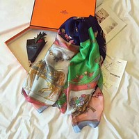 Hermes Fashion Women Easy to match Silk Scarf H-YH-FTMPF