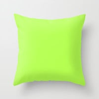 Green Throw Pillow by Beautiful Homes