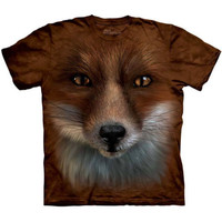 The Mountain BIG FACE FOX Giant Animal Head T-Shirt S-3XL NEW