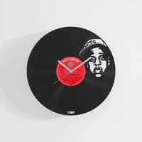 Jay Z inspired handmade wall clock from upcycled vinyl record (LP), Best gift for Jay Z fan, Hip-hop themed home wall decoration